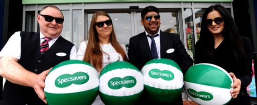 Specsavers store, The Fort, Manchester. Sunglasses promotion day. Picture by Paul Heyes, Saturday July 16, 2016.